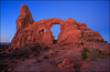 Arches Nationalpark (jeanny mueller) Tags: usa southwest moab archesnationalpark canyonlands arch sunrise bluehour landscape rock red utah turretarch