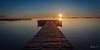 Amanece en Murcia (carlosizquierdovazquez) Tags: largaexposición mar marmenor lopagan agua madera pasarela amanecer