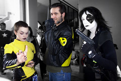 Negasonic Teenage Warhead, Wolverine, and Domino (greyloch) Tags: dragoncon cosplay costumes negasonicteenagewarhead domino wolverine xmen marvel comicbookcharacter comicbookcostume moviecharacter moviecharactercostume 2017 sony dsctx30 niksoftware