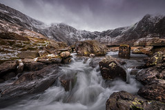 Frozen in time... (Einir Wyn Leigh) Tags: landscape waterfall water lake mountain ice snow winter rugged river rocks rural nature natural light storm snowdonia idwal valley wales cymru walking outside january 2018
