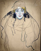 'Portrait of a Lady, Unfinished' by Gustav Klimt (Greatest Paka Photography) Tags: portrait gustavklimt artist art legionofhonor sanfrancisco austrian incomplete painting unfinished portraitofalady lady female