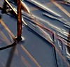 (Edinburgh Nette ...) Tags: ice almonddell january18 ponds shadows abstracts icesheet pierced angular submerged geometric ribbet