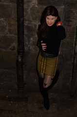 Always looking for a street corner to get some business (Miss Nina Jay) Tags: trannie tights boots