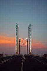 Sunset on Cap Canaveral (Isa-belle33) Tags: sunset sun soleil sky ciel bridge pont bordeaux fujifilm city ville urban urbain road route clouds nuages