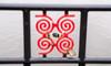 Framed Bird [explored] (Peter Branger) Tags: activeassignmentweekly theorganicandgraphicjuxtaposition thehague netherlands canoneos5d newpetzval petzval hofvijver pond fence coot bird