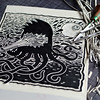 Bamoiid - New linocut paper printing (Teratoiid) Tags: linocut linogravure teratoiid monstre monster gravure