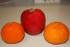 Morning Fruit. (dccradio) Tags: lumberton nc northcarolina robesoncounty indoors inside orange oranges apple red fruit eat food snack healthy nikon d40 dslr counter countertop kitchencounter kitchen