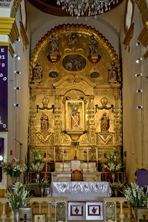 Saint Paul Apostle in the center of the altar