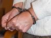 Tina in white bondage (Raymond_de) Tags: bondage handcuffs chains legirons white fetish