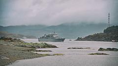 Jotvingis.. (Harleynik Rides Again.) Tags: jotvingis ship navy lithuanian kylerhea loch sea glenelg highlands westernisles scotland harleynikridesagain