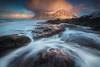 Skagsanden Snowstorm (albert dros) Tags: lofoten skagsandenbeach beach seascape water waves norway albertdros flow snowcloud cloudscape mountains rocks fjords fjord