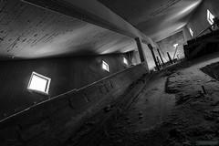 Concretus Rex B/W (kentkirjonen) Tags: abandoned övergivet övergiven canon 80d rust rost old gammal sweden sverige dalarna ue decay förfall wood trä minesite gruvområde snow snö dark mörkt lights lampor lave headframe concrete betong stairs staircase trapp trappor rex 1948 gustaf letterström architecture