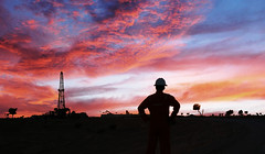 People's dreams has no end (Hamed ALismaili) Tags: hamed alismaili oman oil gas field rig rigsite drilling sunset geo geoservices silhouette