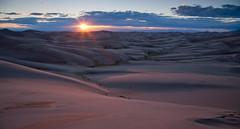 Sandy Sunset (Angles & Edges) Tags: sanddunes greatsanddunesnationalpark greatsanddunes sand sunset sun clouds sky colorado us martinwitt anglesedges desert