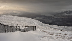 Tempest (Lindi m) Tags: scotland bennevis windy stormy snow highlands fence icy cold bleak landscape