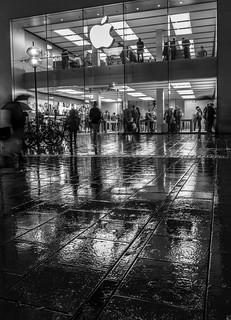 a rainy evening in Munich
