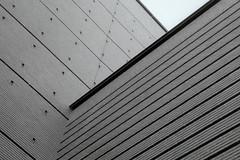 Exterior, SF MOMA (Ian E. Abbott) Tags: sanfranciscomuseumofmodernart sfmoma artmuseum bricks walls leicaiiif 50mmlens 50mm summitar blackandwhitefilm bwfilm vintagecamera vintagecameraphotography