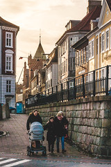 Three Generations Strolling Through Elsinore, Denmark