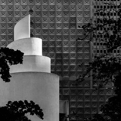 Chapel of Thanks-Giving No. 4 (Mabry Campbell) Tags: 2017 april dallas h5d50c hasselblad philipjohnson republictower texas thanksgivingsquare thanksgivingsquaretouristattraction architecture blackandwhite design downtown fineart image localattraction locallandmark photo photograph squarecrop touristattraction f71 mabrycampbell may 2014 may132014 20140513h6a5422 24mm ¹⁄₄₀₀sec 100 tse24mmf35l