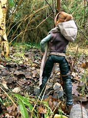 The journey continues... (JoeyDee83) Tags: star wars endor hasbo doll vinyl toy action figure nature woodlands forest green fall portrait park