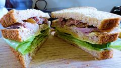 Feeling hungry (Sandy Austin) Tags: sandyaustin panasoniclumixdmcfz70 massey westauckland auckland northisland newzealand food sandwich cheese egmont cucumber lettuce