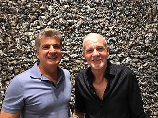 Andres Gil and Rafael Miyar at the LnS Gallery opening