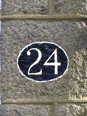 24 (5) (Bobfantastic) Tags: aberdeen scotland uk city urban granite numbers paint font texture decay historical preservation