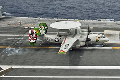 VAW-115 E-2C Hawkeye BuNo 165812 (skyhawkpc) Tags: navy naval aviation usn usnavy aircraft lockheed vaw115libertybells e2c hawkeye 165812 nf600 ussronaldreagan cvn76 2016 officialusnavy airplane waterssouthofjapan