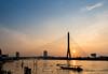 Rama VIII Bridge (aey.somsawat) Tags: chaophrayariver longtailboat peopleofbangkok ramaviiibridge sunset