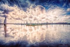 North Sea Island Juist - Marina (nigel_xf) Tags: northsea juist island insel himmel sky marina yachthafen habour hafen wolken clouds spiegelung reflexion reflection nikon d300 nigel nigelxf vsfototeam nordsee schlick verlandung mud water sea