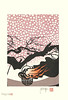 Cherry (Japanese Flower and Bird Art) Tags: flower cherry prunus rosaceae masayuki miyata modern woodblock print japan japanese art readercollection
