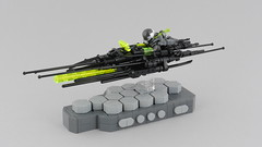 Needler X13 (Anthony (The Secret Walrus) Wilson) Tags: lego moc custom afol tfol speeder bike speederbike hover hovercraft cyberpunk dystopia hex hexagon needle