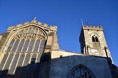 St Thomas & St Edmund's Church (curly_em) Tags: salisbury wiltshire church building outside bluesky winter sunshine stainedglasswindows shadow