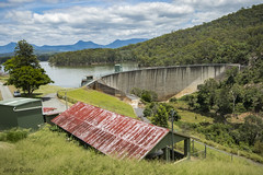 Moogerah Dam Moogerah Queensland Australia. (jasonsulda) Tags: moogerah dam queensland australia wall lake watercourse reynolds creek seqwater seq