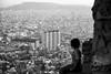 Staring at Barcelona (rfabregatmoliner) Tags: barcelona city girl lady view candid mono monochrome bw blackandwhite nikon nikond750 d750 world catalunya catalonia spain