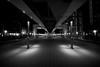 Pedestrian Deck (hidesax) Tags: pedestriandeck night shiodome 自由通路 lights glass wall tokyo japan hidesax sony a7ii voigtlander 10mm f56