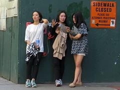 Sidewalk Closed (Multielvi) Tags: new york city nyc ny manhattan street candid girls women