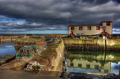 St Abbs 17 Feb 2018 00070.jpg (JamesPDeans.co.uk) Tags: objects coast stabbs forthemanwhohaseverything landscape ships hdr gb printsforsale fishingindustry northsea harbour firthofforth borders reflection sea lifeboathouse unitedkingdom lifeboat transporttransportinfrastructure scotland britain lobsterpots shore wwwjamespdeanscouk camera europe greatbritain landscapeforwalls jamespdeansphotography uk digitaldownloadsforlicence