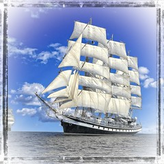 Tall Ship copy5 (BukaSouth) Tags: sail ship sailingship yachting yacht rig sea navy race wave tall wind boat crew power speed hobby sport ocean cruise seaman anchor sailor active voyage marine breeze vessel leisure concept holiday frigate freedom regatta boating extreme vintage nautical activity historic sailboat maritime romantic vacation recreation navigation transportation russianfederation
