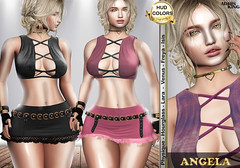 :.:.:.♛Adris King®♛.:.:.:.. ❥ Beautiful girls  ➤ NEW RELEASE  Slink (ALL) – Belleza (ALL) – Maytreia ➤ Group gift  TAXI:  http://maps.secondlife.com/secondlife/POLLICINO/144/35/953 https://marketplace.secondlife.com/p/AK-OUTFIT-ANGELA/13953726 (Adris King) Tags: clothing woman skirt top short slink maitreya mesh tmp hud king beleza ômega gift discount free beautiful girls new release exclusive full make adris