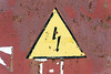 High voltage lightning sign (Jess Aerons) Tags: symbol sign danger high safety warning yellow caution electricity risk emergency hazard signal old shock metal background icon dangerous industry triangle alert design power grunge voltage attention corrosion arrow exclamation corrugated white zone energy traffic lightning brown stop vintage outside steel death line isolated careful protection error point distressed rust