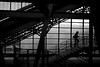 Hardbrücke (maekke) Tags: zürich hardbrücke sbb publictransport trainstation man silhouette bw noiretblanc fujifilm x100t 35mm ch switzerland streetphotography