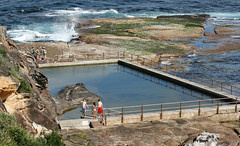 North Curl Curl Rock Pool (philipbouchard) Tags: pool ocean rockpool saltwater swimming sunshine beach curlcurl north australia sydney newsouthwales nsw pacificocean shore wading water recreation people suburbs tide walls swimwear bluffs sandstone northernbeaches coast