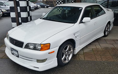 1998 Toyota Chaser Tourer (D70) Tags: 1998 toyota chaser right hand drive import from japan velocity cars burnaby bc canada samsung smg900w8 ƒ22 48mm 1266 40 6th generation x100 1996–2001 tourer