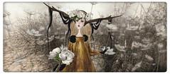 The Blushing Bride (Ursula Floresby...Kidnapped By RL) Tags: sl slart tellmeastory avatar metabody meilominotaur capcatragu bride flower lode helamiyo miyokomagic chirzakavlodovic delicatessen