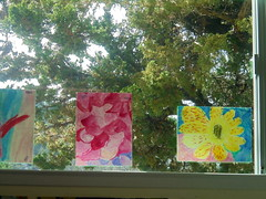 DSC01545 (classroomcamera) Tags: school classroom window windows day daytime tree trees flower flowers art artwork paint paints paintings pink yellow shine shines shining