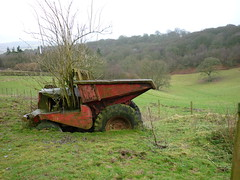 Returning to nature (roger_forster) Tags: dumper truck old abandonded farm wales england offasdyke norton