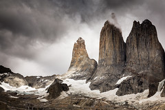 Torres (GlobalGoebel) Tags: torresdelpaine torres del paine southamerica chile national park mountains spires towers canoneos5dmarkiii 24105mm canonef24105mmf4lisusm glacial patagonia dramatic sky clouds wcircuit w circuit trek trekking hike hiking