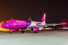 Wizz Air HA-LPS HAJ at Night (U. Heinze) Tags: aircraft airlines airways flugzeug planespotting plane nikon night eddv haj hannoverlangenhagenairporthaj