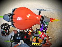 The Fear Gas Zeppelin (bricksfreaks) Tags: lego joker batman nightwing robin scarecrow bricks moc bricksfreaks dccomics dc comics minifigures minifigs custom superheroes super heroes gotham fear gas zeppelin